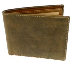 Brown Mens Leather Credit Card & Notes Holder Wallet